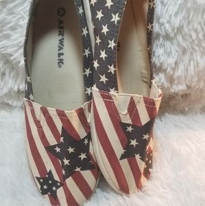 Airwalk American flag stars & stripes canvas shoe